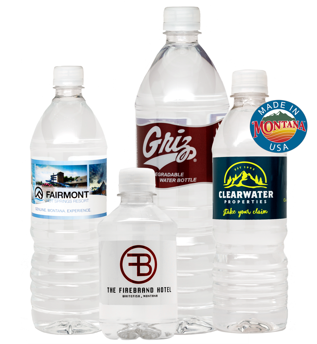 Montana Private Reserve: Custom designed, quality water bottle labels